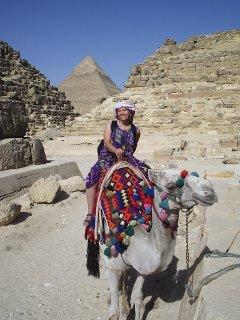 Sallie Latch in Egypt