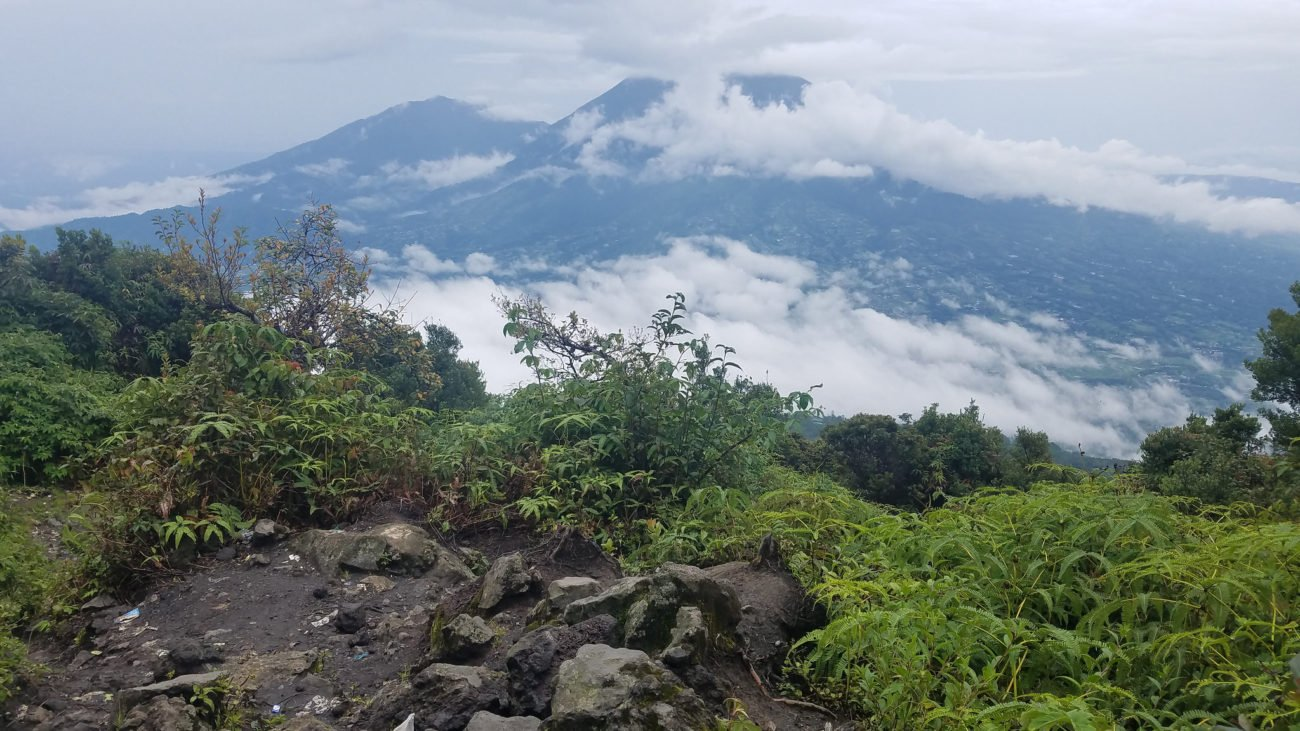 Climbing Gunung Marapi in West Sumatra