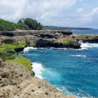Bali coastline in Nusa Lembongan