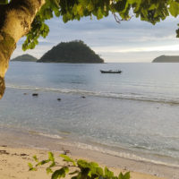 ecostay beach in West Sumatra, Indonesia