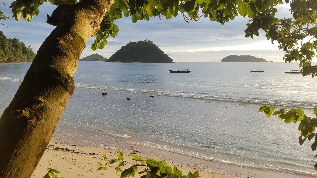 ecostay beach in West Sumatra, Indonesia
