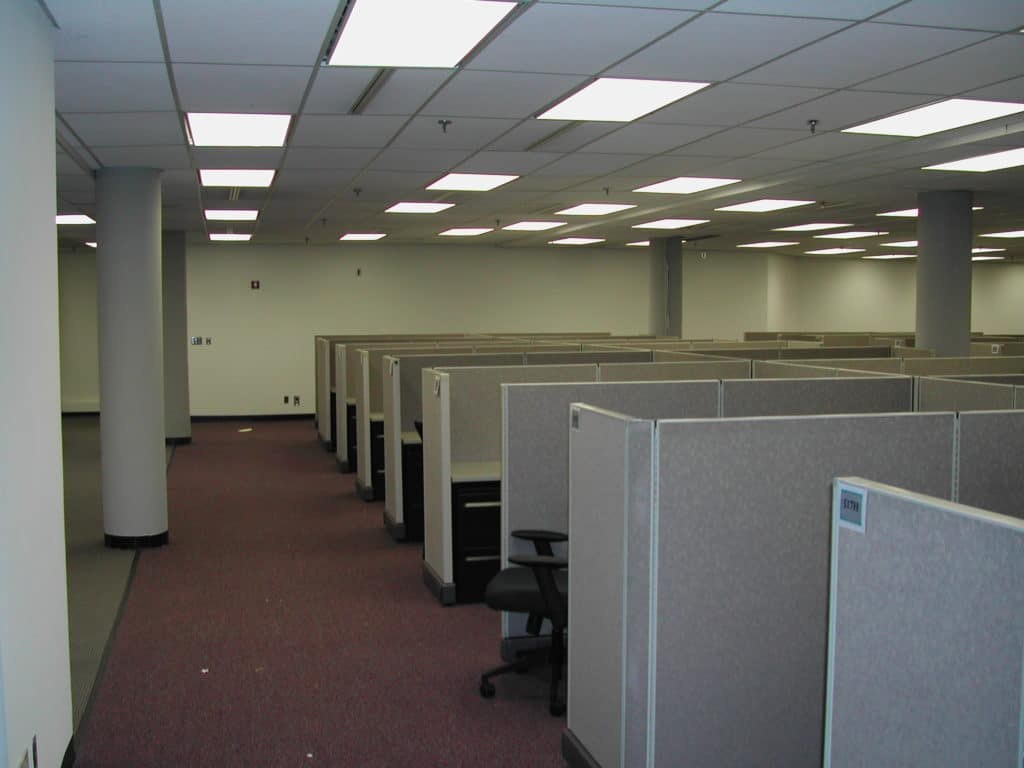 A row of cubicles