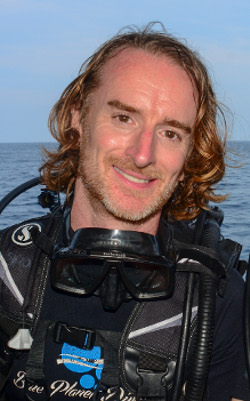 Greg Rodgers scuba diving