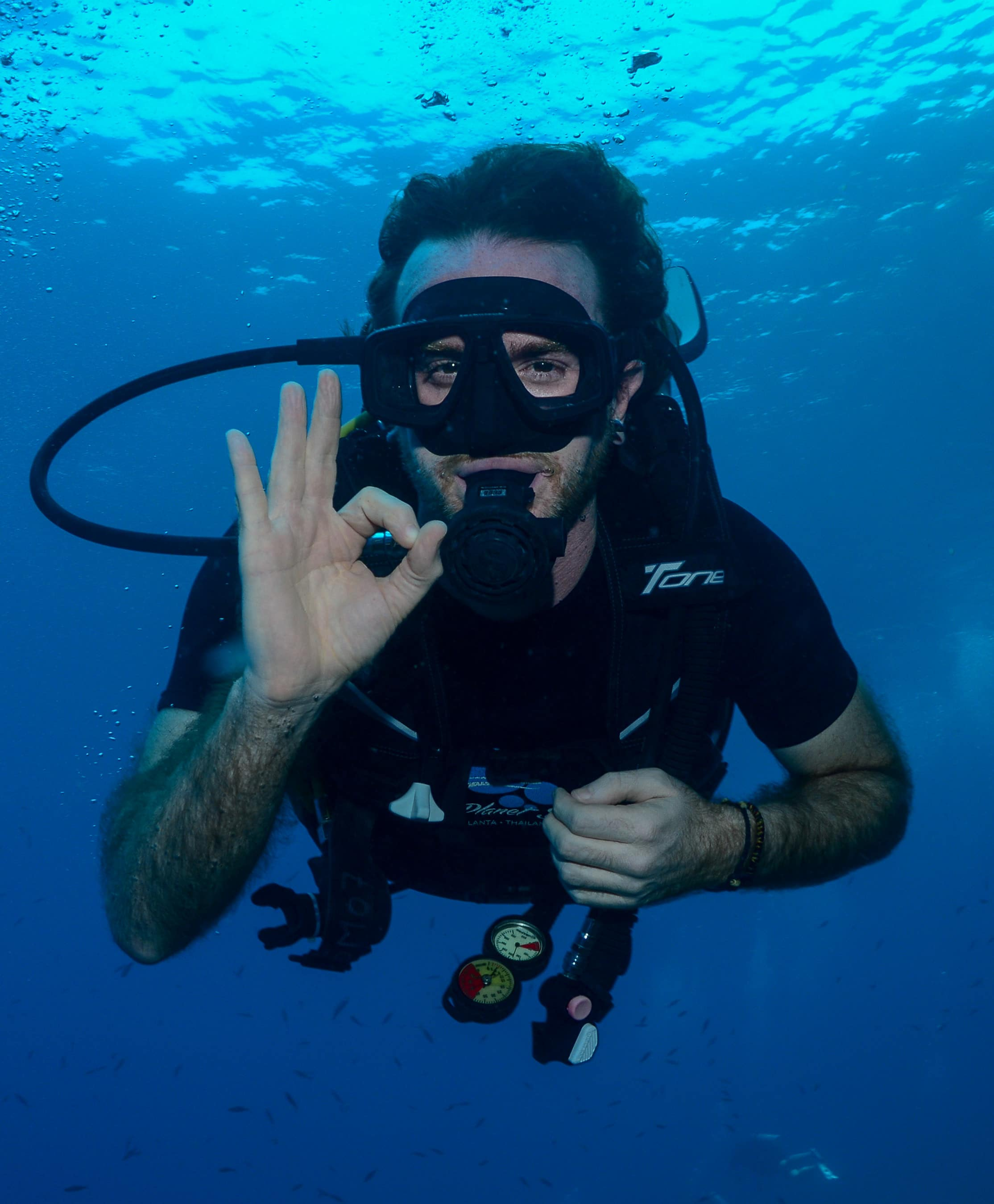 Greg Rodgers scuba dving