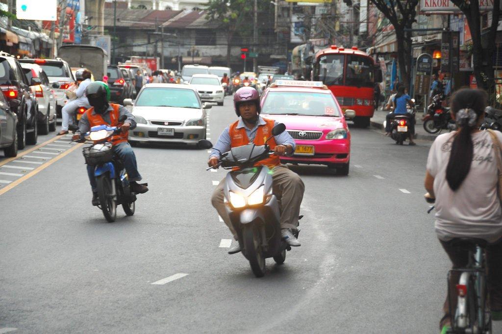 Motorcycle taxis in Bangkok