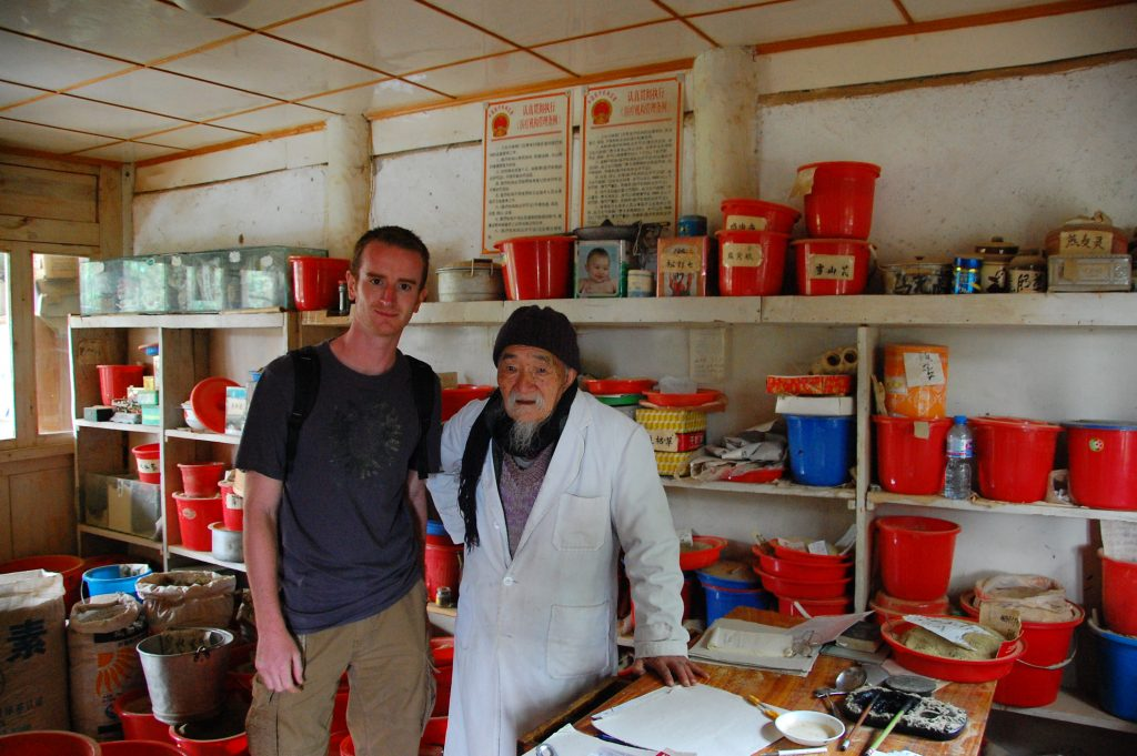 Greg Rodgers and Dr. Ho from Yunnan, China