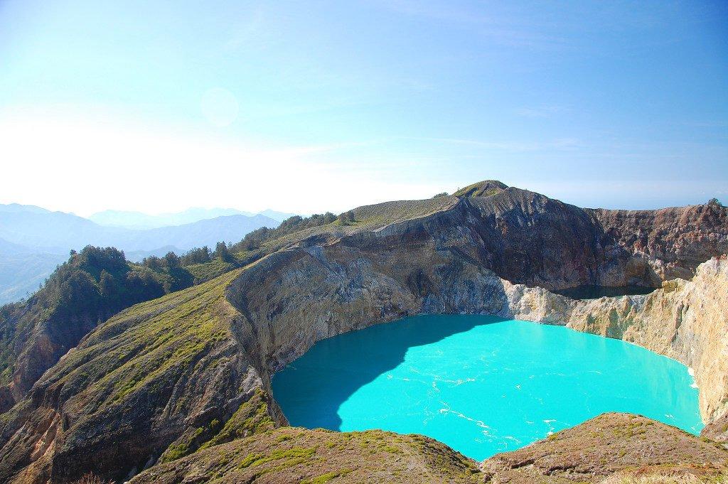 Scrambling Around the Kelimutu Volcano in Flores, Indonesia