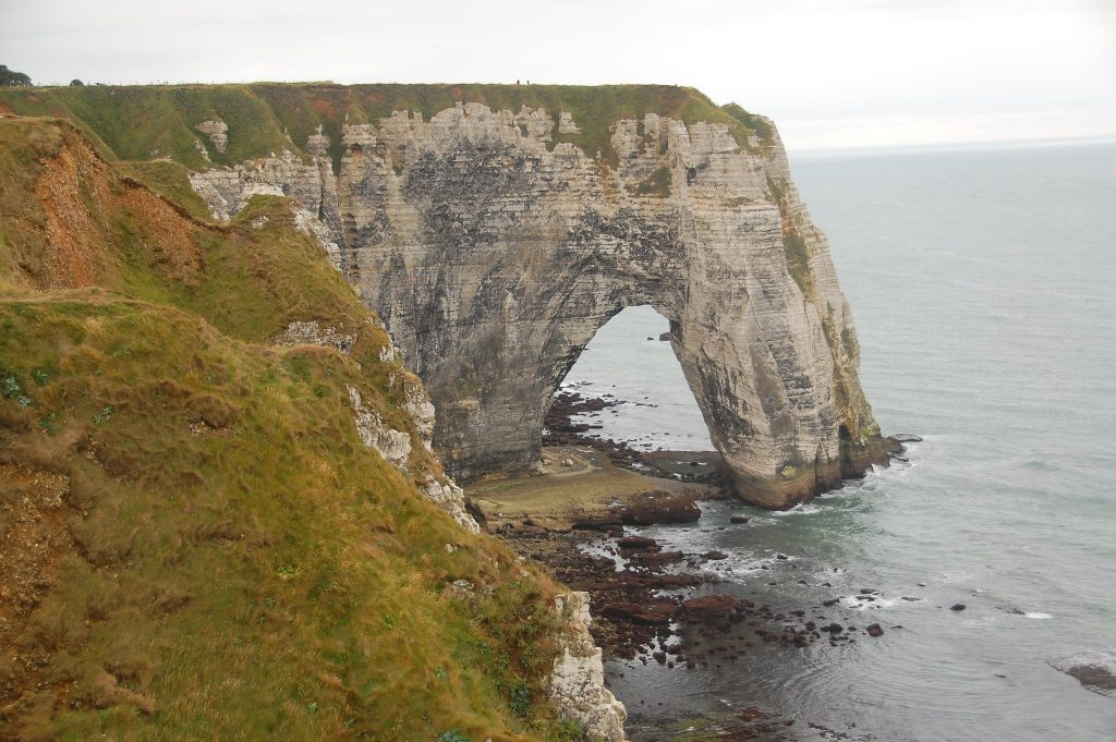 Normandy coast in France