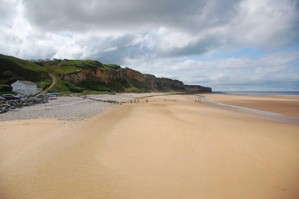 golden sand on Omaha Beach, Normandy