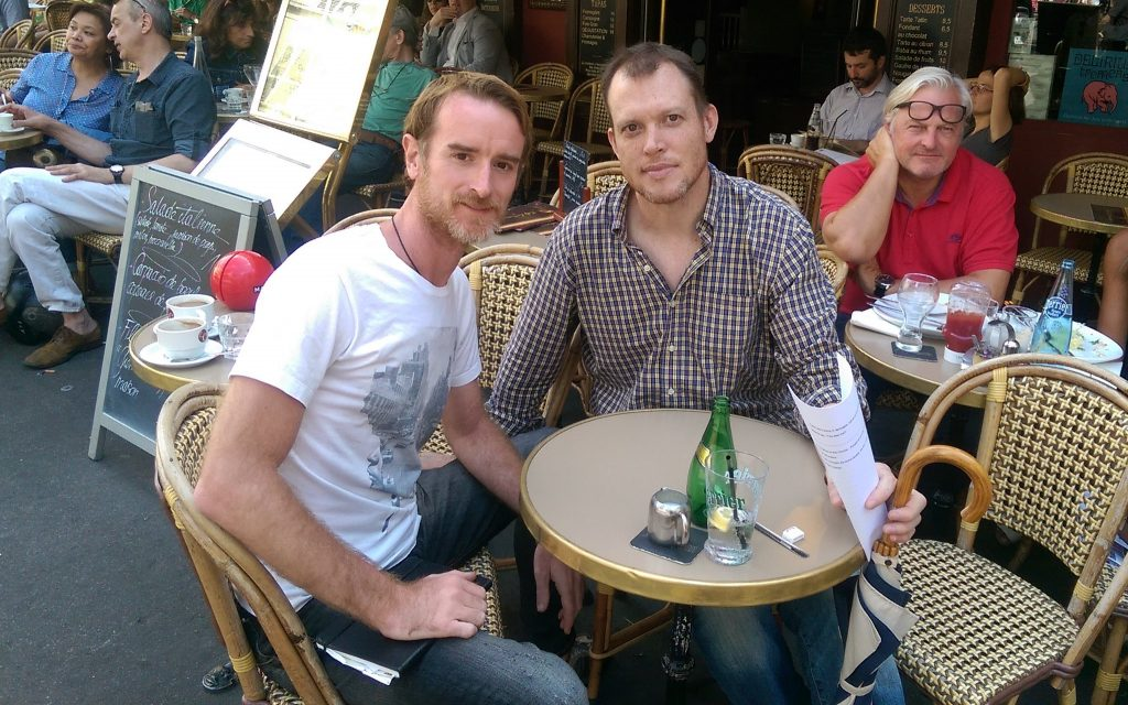 Rolf Potts and Greg Rodgers vagabonding in France