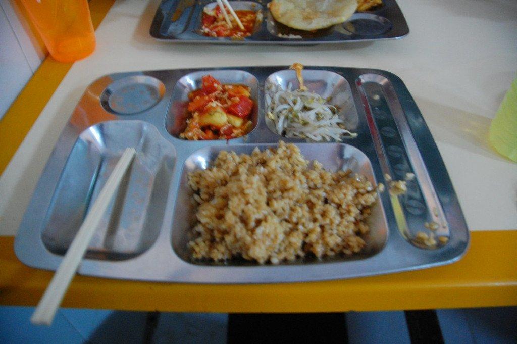 Food at Shaolin Temple school