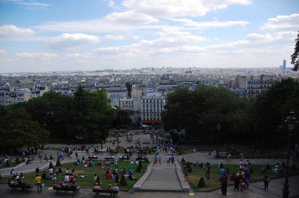 Looking over horizon in Paris, France