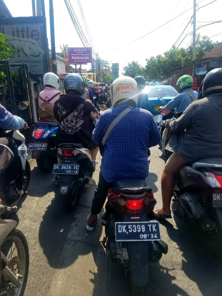 The traffic in Ubud and Canggu is bad